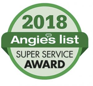Angie's List Super Service Award - Winner again in 2018!